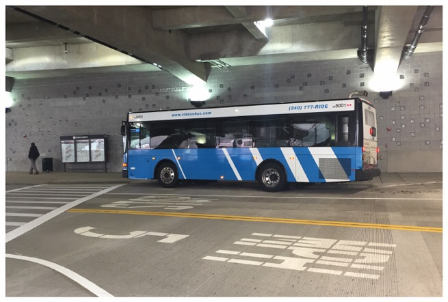 ride on bus at silver spring transit center