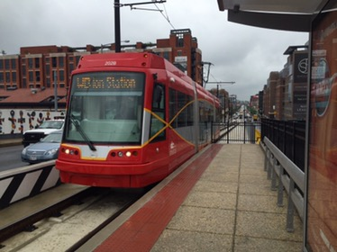 dc streetcar arriving at union station in washington dc
