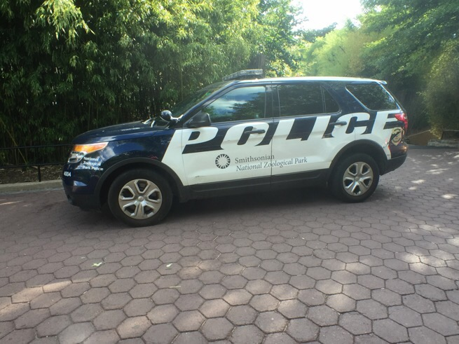 smithsonian police suv at the national zoo in washington dc